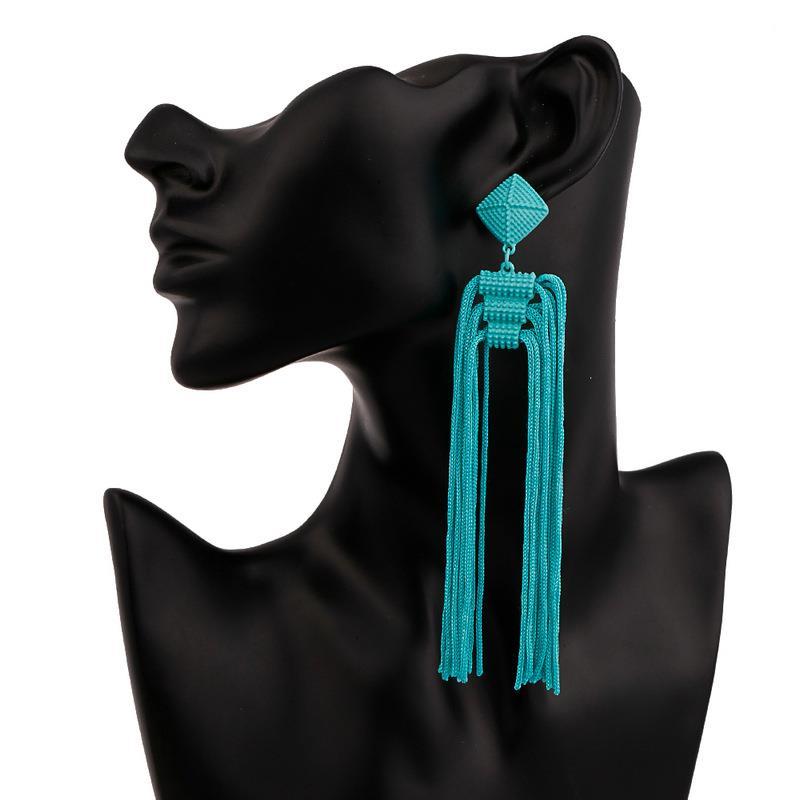 Women-Fashion-Rhinestone-Long-Tassel-Dangle-Earrings-Fringe-Drop-Jewelry-Gift-UK thumbnail 202