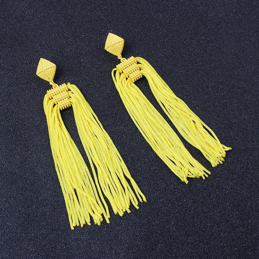 Women-Fashion-Rhinestone-Long-Tassel-Dangle-Earrings-Fringe-Drop-Jewelry-Gift-UK thumbnail 211