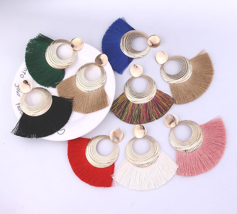 Women-Fashion-Rhinestone-Long-Tassel-Dangle-Earrings-Fringe-Drop-Jewelry-Gift-UK thumbnail 172
