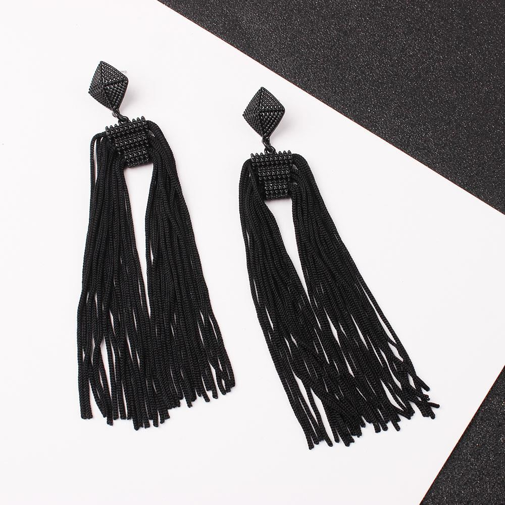 Women-Fashion-Rhinestone-Long-Tassel-Dangle-Earrings-Fringe-Drop-Gift-60-Design thumbnail 103
