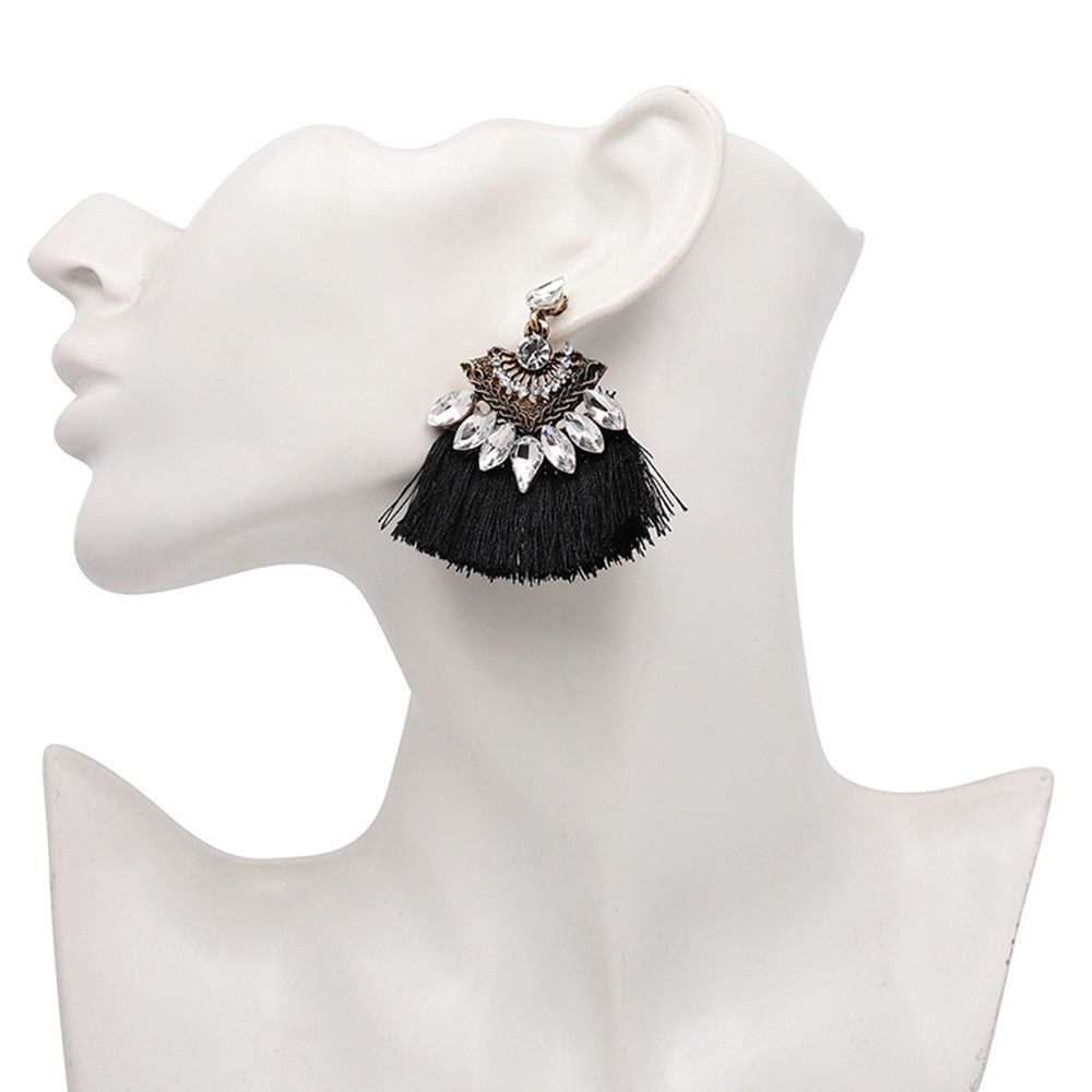 Women-Fashion-Rhinestone-Long-Tassel-Dangle-Earrings-Fringe-Drop-Jewelry-Gift-UK thumbnail 125