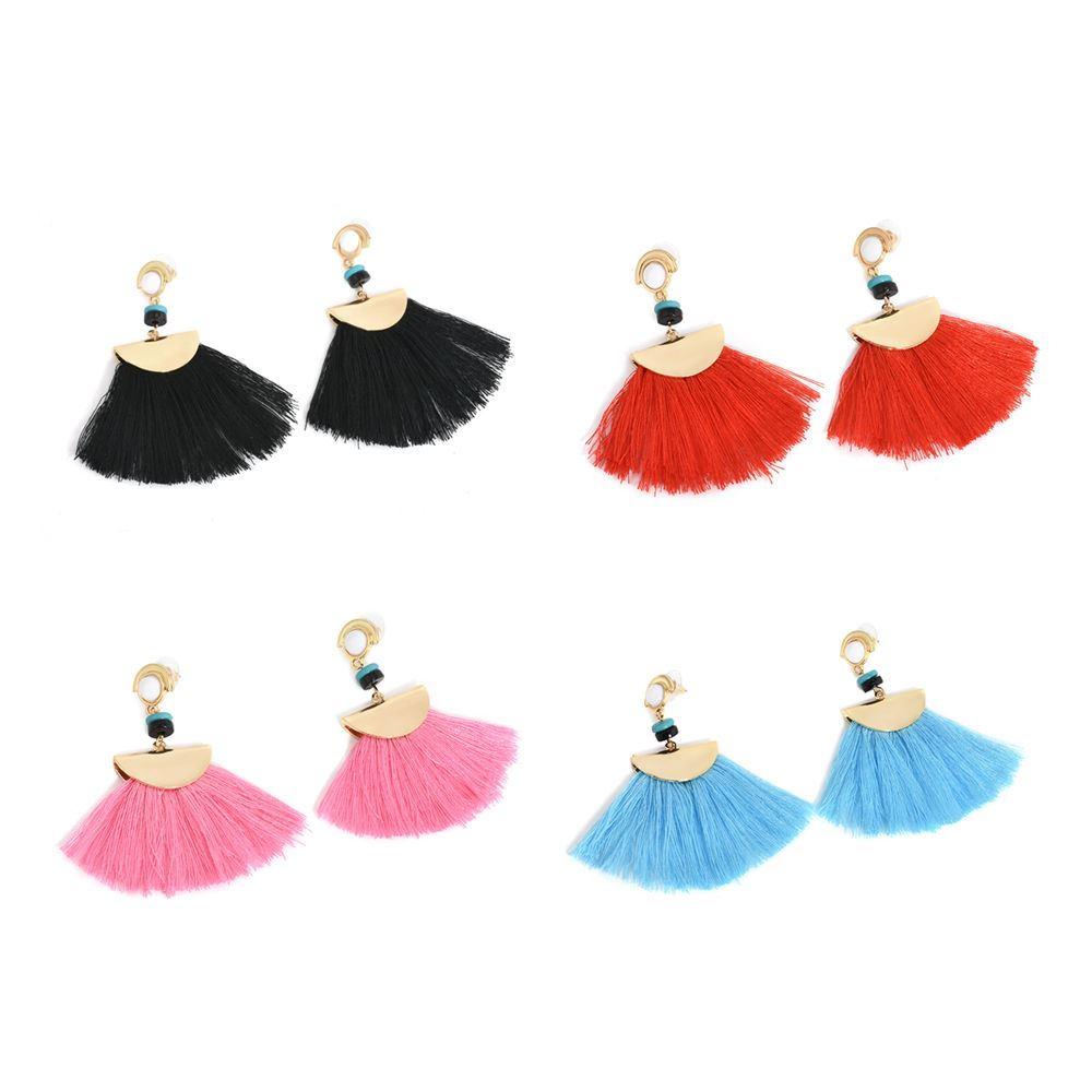 Women-Fashion-Rhinestone-Long-Tassel-Dangle-Earrings-Fringe-Drop-Jewelry-Gift-UK thumbnail 48