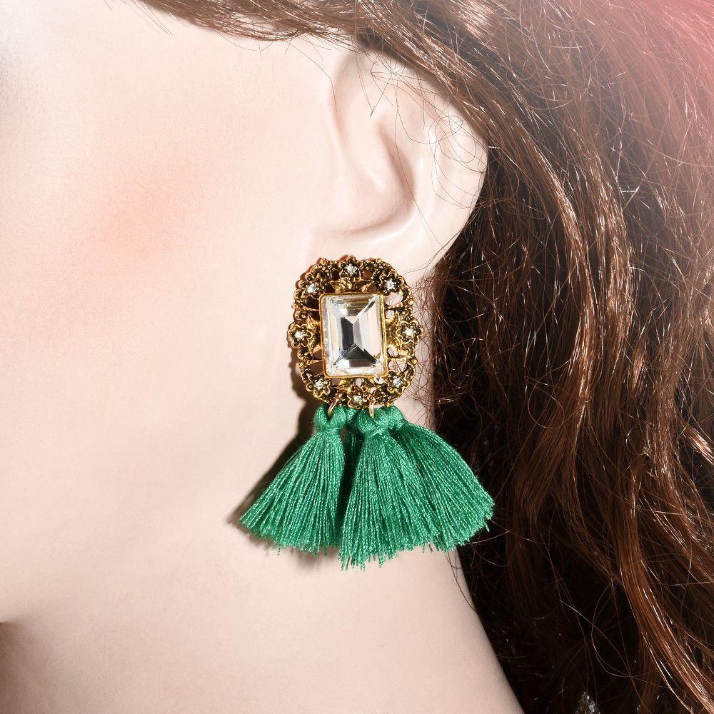 Women-Fashion-Rhinestone-Long-Tassel-Dangle-Earrings-Fringe-Drop-Jewelry-Gift-UK thumbnail 80