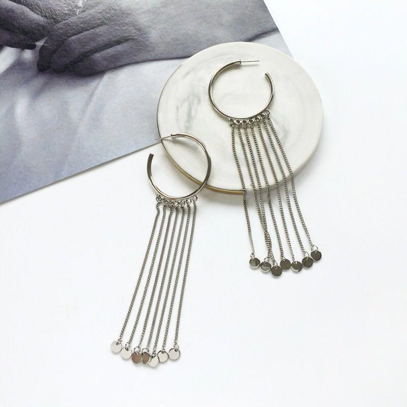 Women-Fashion-Rhinestone-Long-Tassel-Dangle-Earrings-Fringe-Drop-Jewelry-Gift-UK thumbnail 8