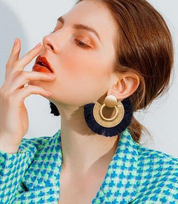 Women-Fashion-Rhinestone-Long-Tassel-Dangle-Earrings-Fringe-Drop-Jewelry-Gift-UK thumbnail 181