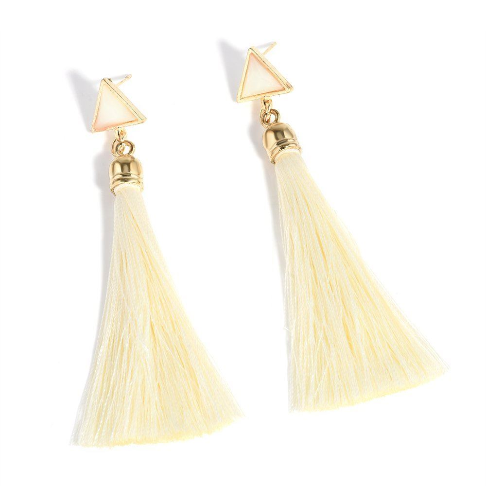 Women-Fashion-Rhinestone-Long-Tassel-Dangle-Earrings-Fringe-Drop-Gift-60-Design thumbnail 61