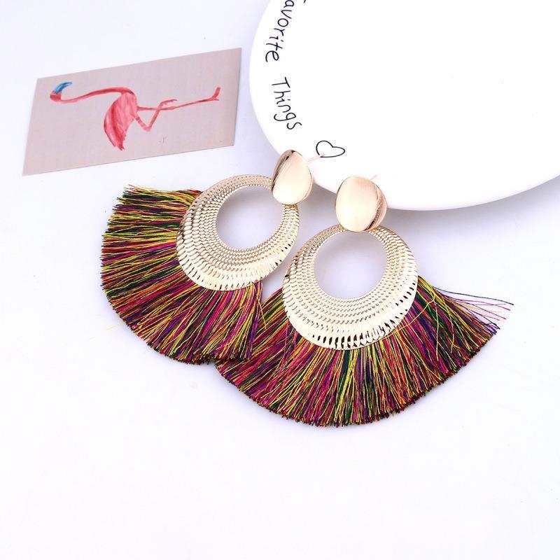 Women-Fashion-Rhinestone-Long-Tassel-Dangle-Earrings-Fringe-Drop-Jewelry-Gift-UK thumbnail 170