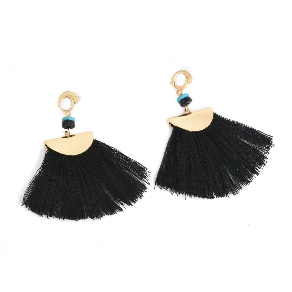Women-Fashion-Rhinestone-Long-Tassel-Dangle-Earrings-Fringe-Drop-Jewelry-Gift-UK thumbnail 47