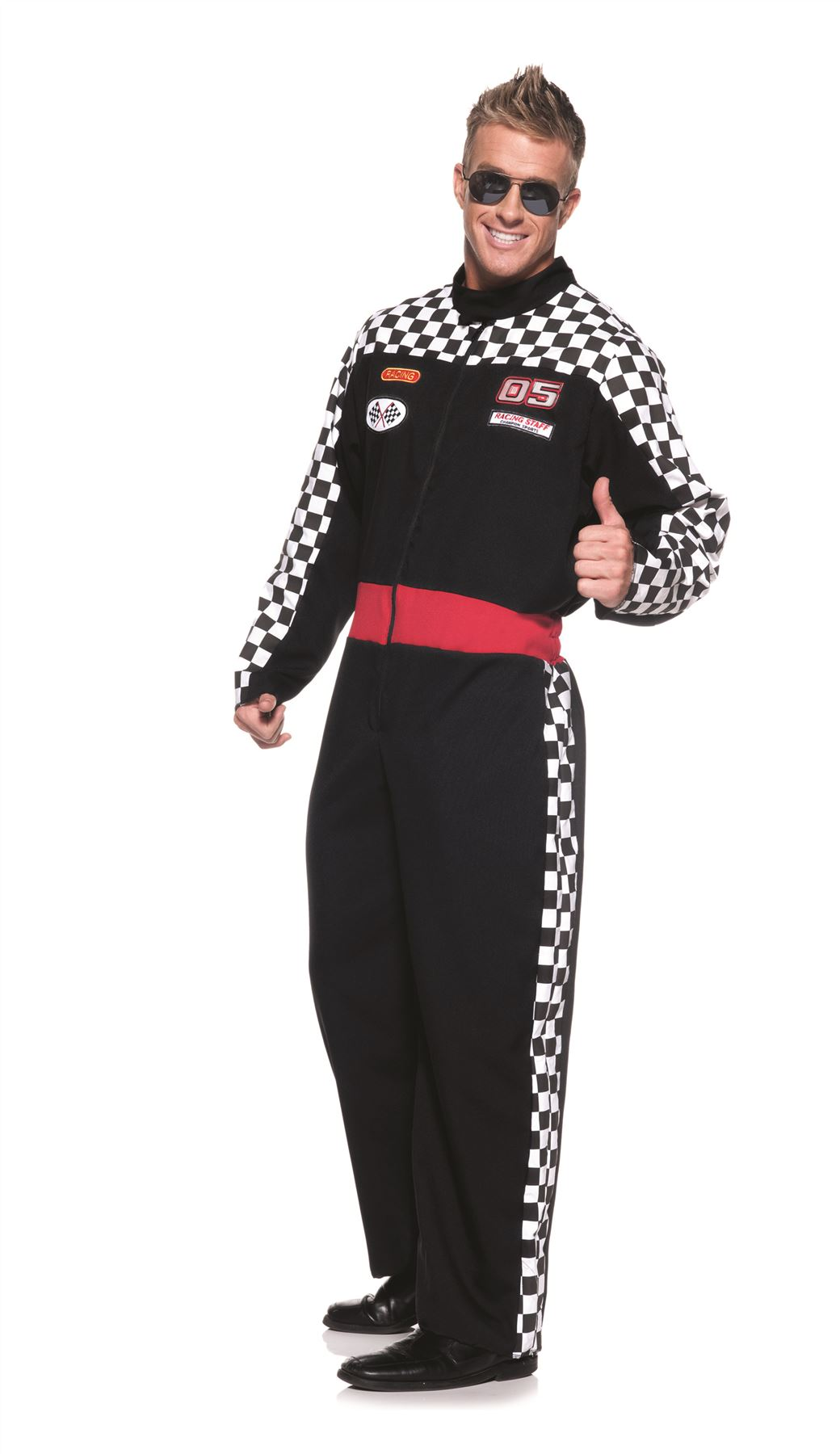 race car driver uniform jumpsuit nascar adult mens halloween costume