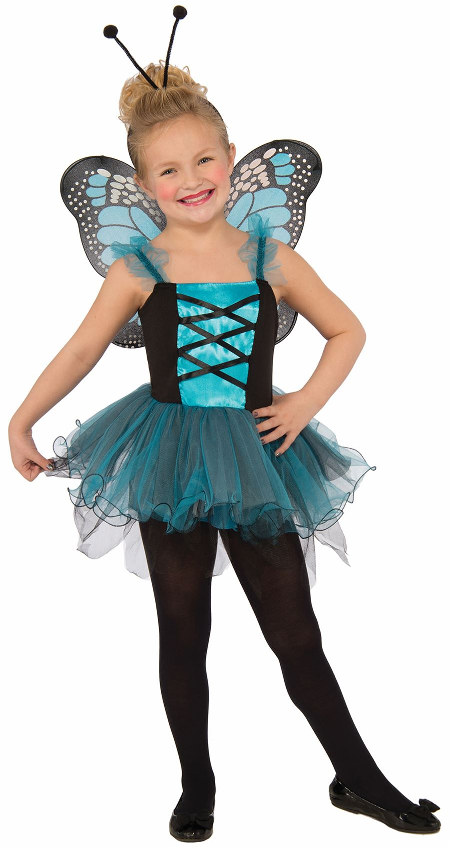 blue-Fluttery-Butterfly-kids-girls-Halloween-costume  sc 1 st  eBay & blue Fluttery Butterfly kids girls Halloween costume | eBay