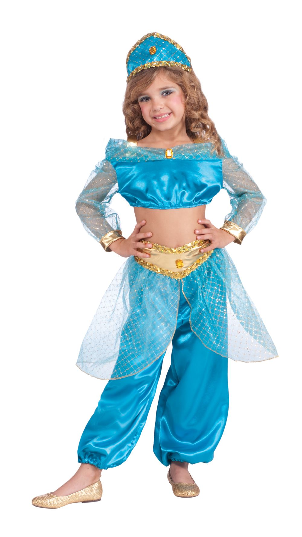 Girls-Arabian-Princess-Jasmine-Costume  sc 1 st  eBay & Girls Arabian Princess Jasmine Costume | eBay