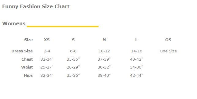 Funny Fashion Women's Size Chart