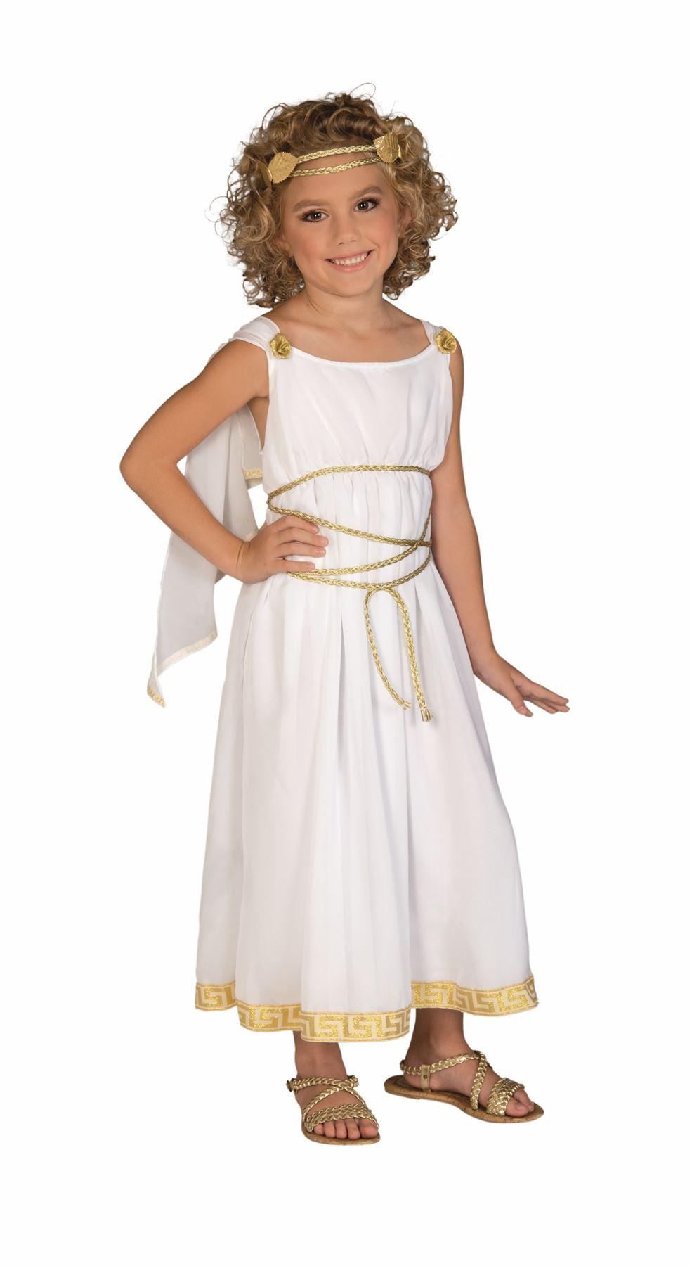 Image is loading Grecian-Greek-Goddess-kids-girls-Halloween-costume  sc 1 st  eBay & Grecian Greek Goddess kids girls Halloween costume | eBay