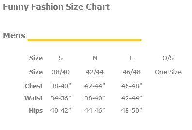 Funny Fashion Mens Size Chart