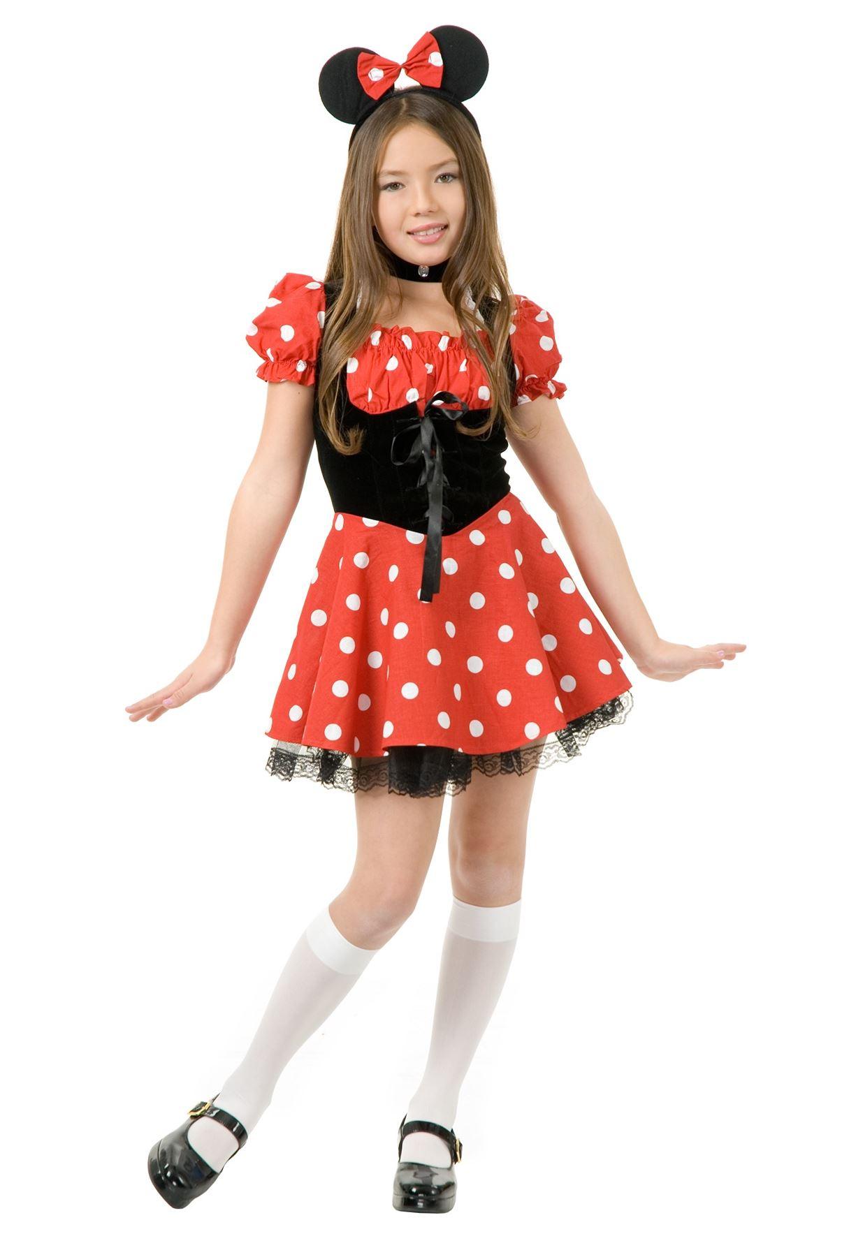 little miss minnie mouse disney petticoat dress girls halloween