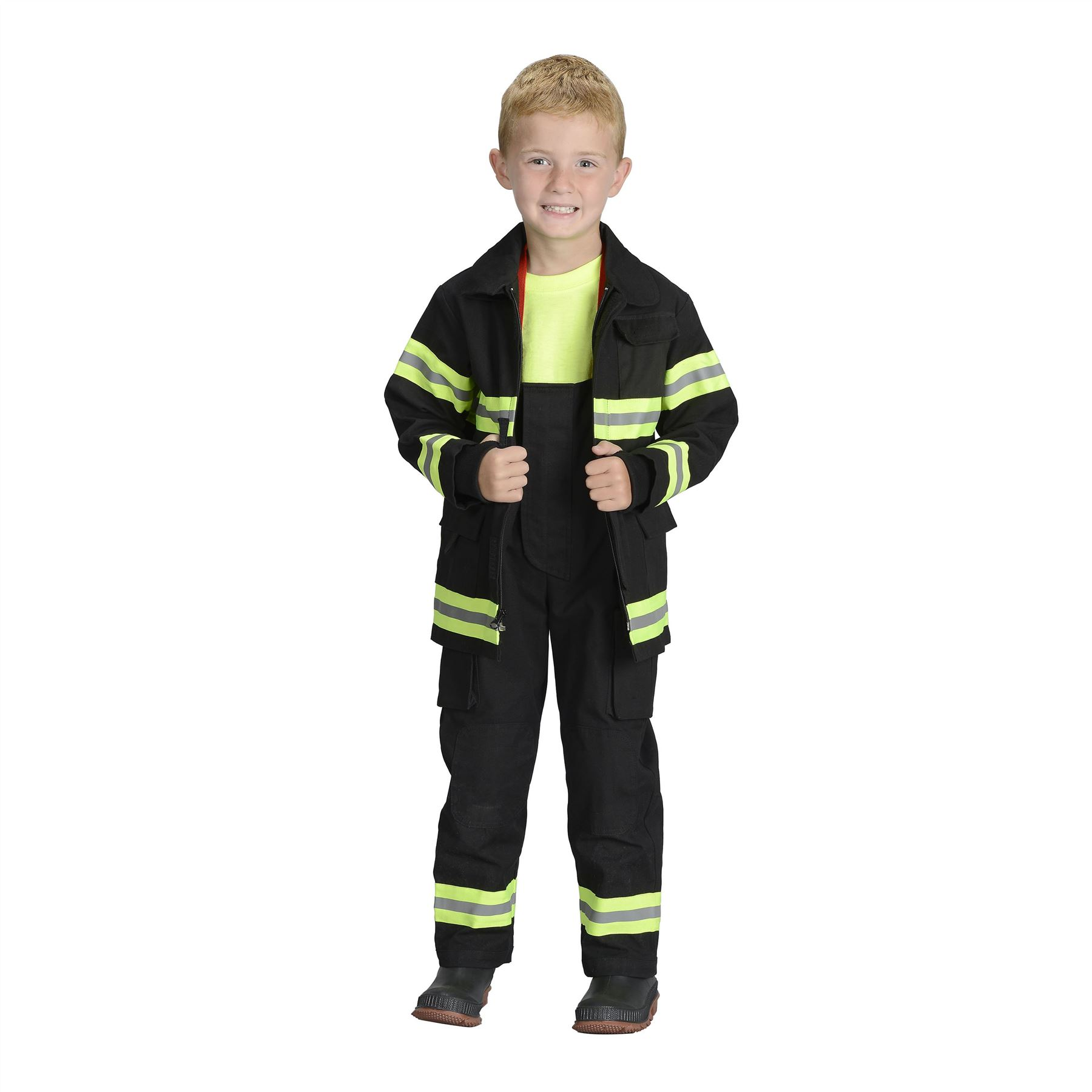 image is loading jr fire fighter fireman suit kids boys halloween - Fireman Halloween
