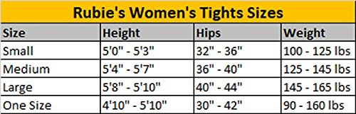 Rubies Womens Tights Size Chart