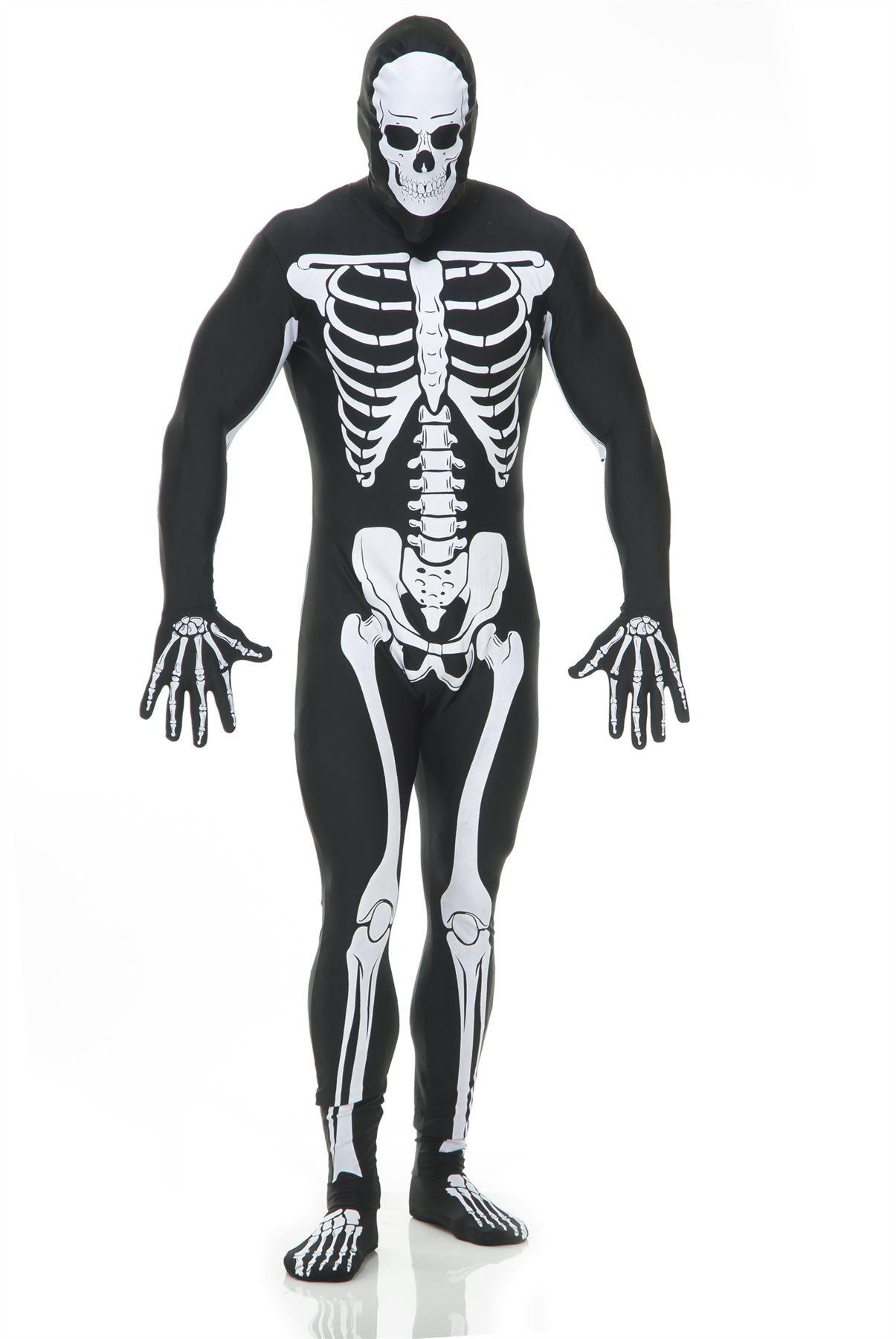 Adult Scary Skeleton Bodysuit Halloween Costume | eBay