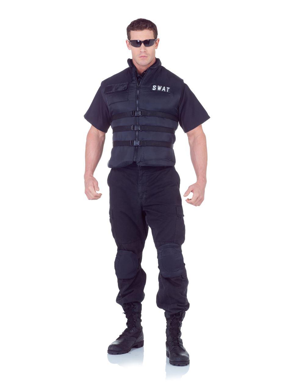 SWAT VEST special forces black military mens adult halloween ...