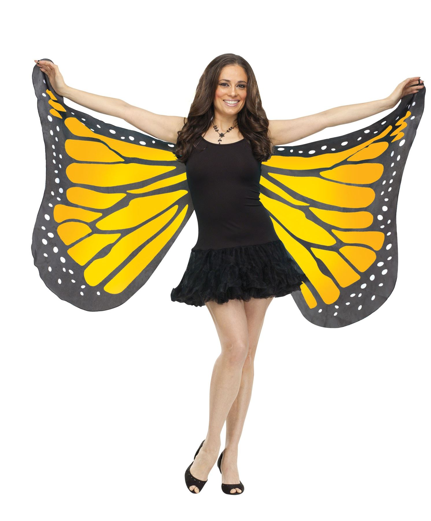 Soft-Fabric-Adult-Monarch-Butterfly-Wings-Nymph-Fairy-  sc 1 st  eBay & Soft Fabric Adult Monarch Butterfly Wings Nymph Fairy Costume ...
