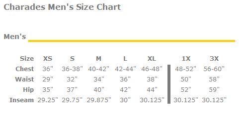 Charades Size Chart