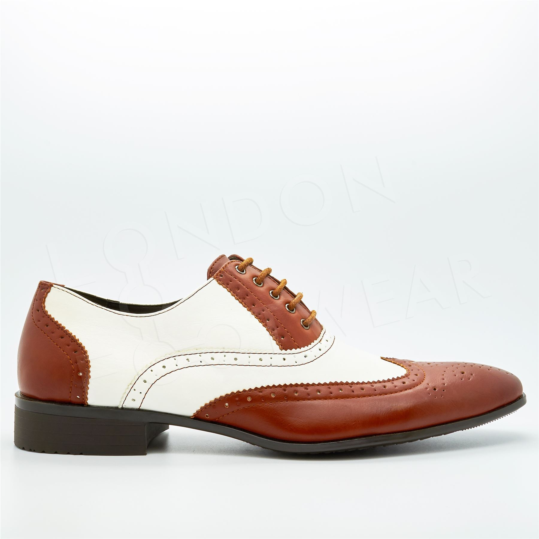 Two Tone Wingtip Shoes Uk