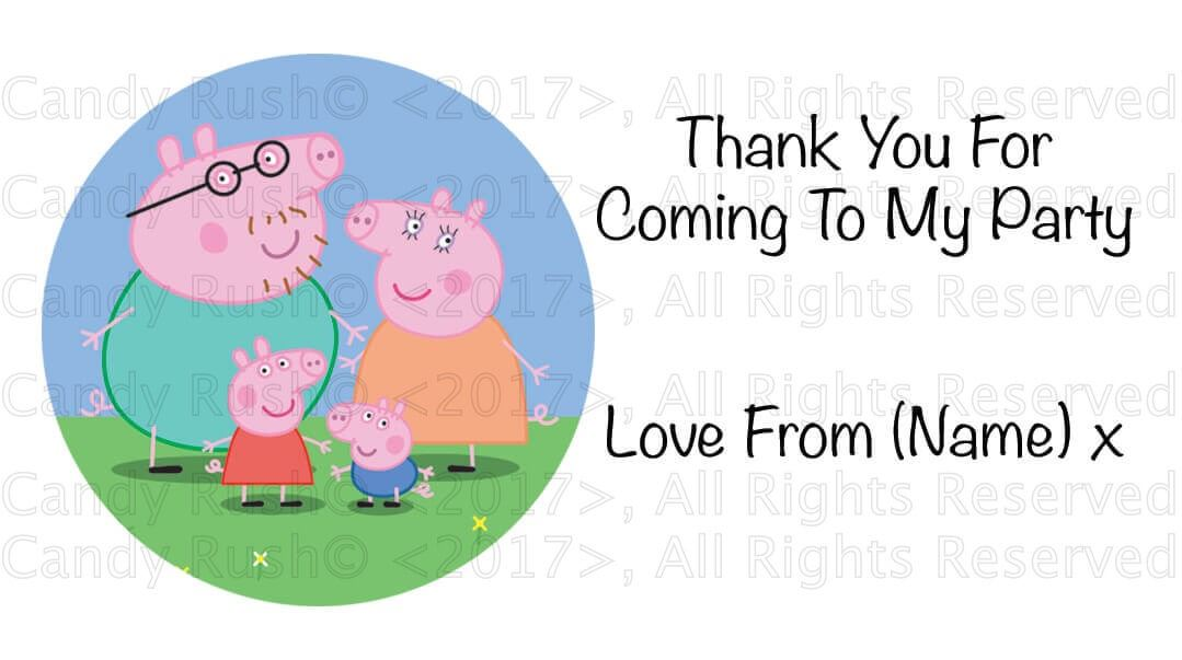 40 personalised birthday party stickers labels thank you for coming