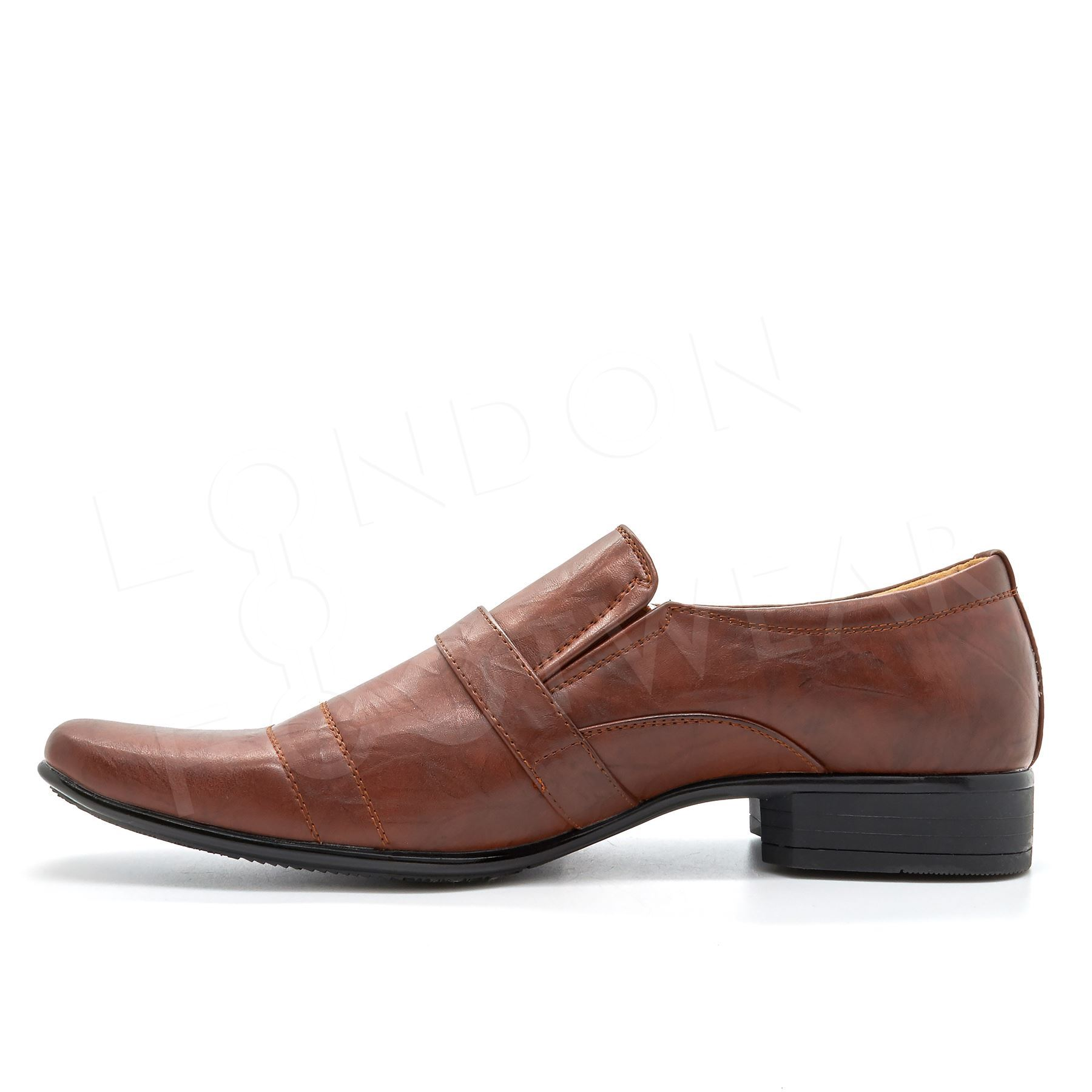 MEN/'S NEW BROWN SHOES SLIP ON SMART FORMAL WEDDING PARTY OFFICE SIZES 6-11 UK