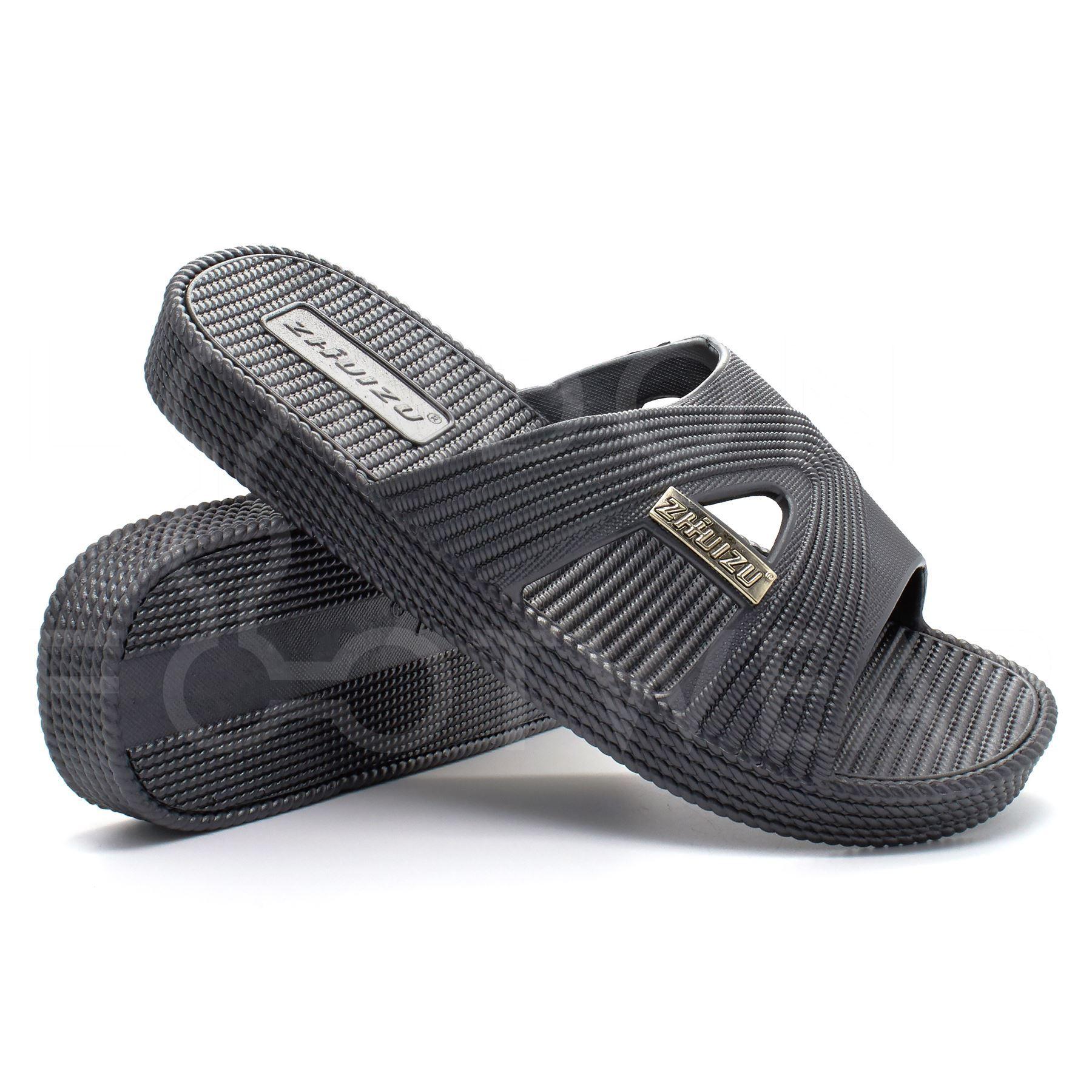Mens resbalón en playa piscina deslizadores Ducha Sandalias Ojotas de Fitness Zapatos de Natación