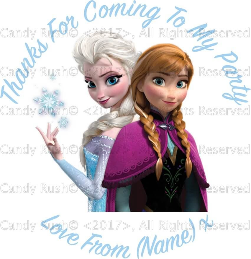 24 personalised birthday party stickers labels thank you for coming to my party frozen about this product picture 1 of 2 picture 2 of 2