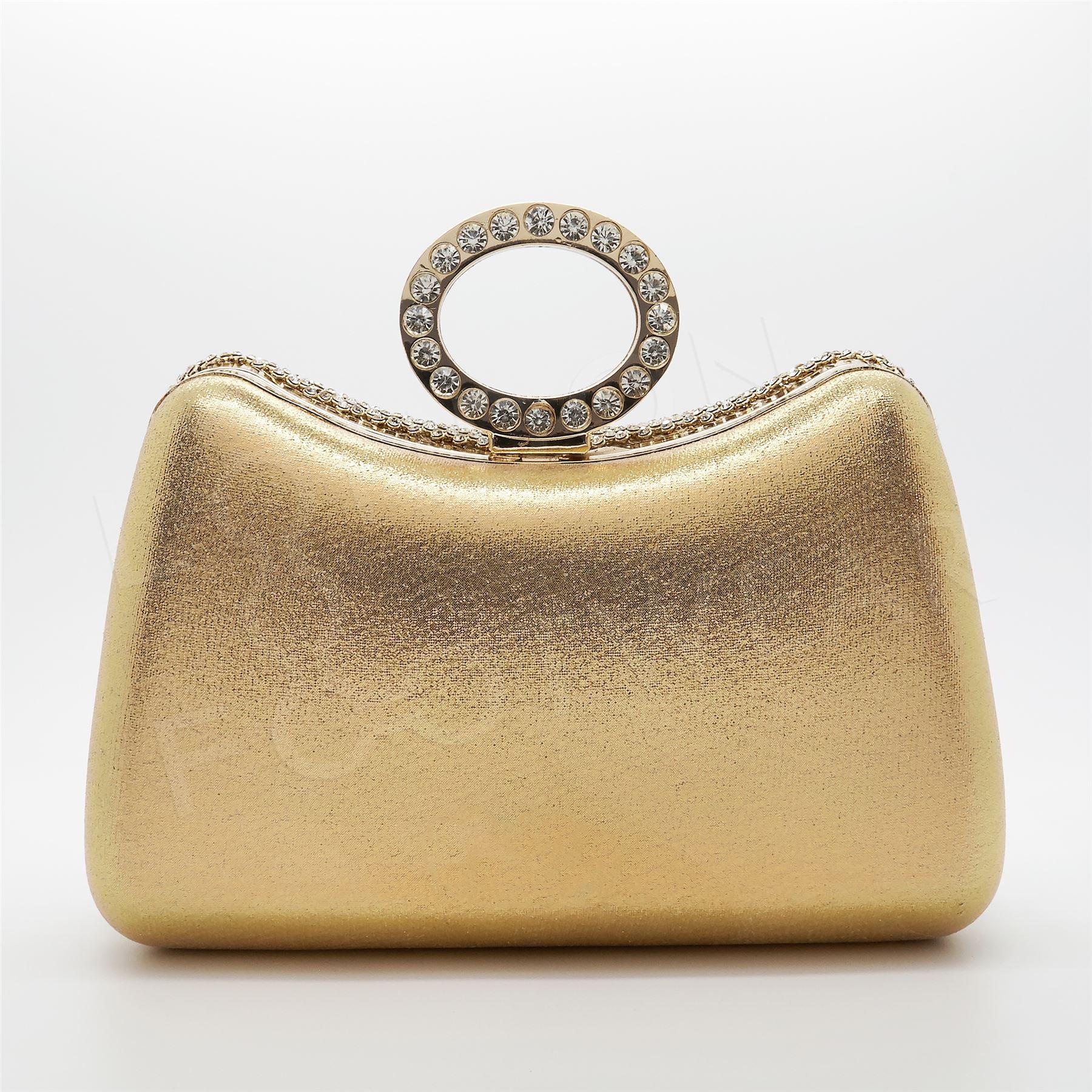 a argento Anello serale Pochette sacco Existencias New Diamante Hay Gold Festa no da Borsa Argento Crystal Uk sposa qwftTHF