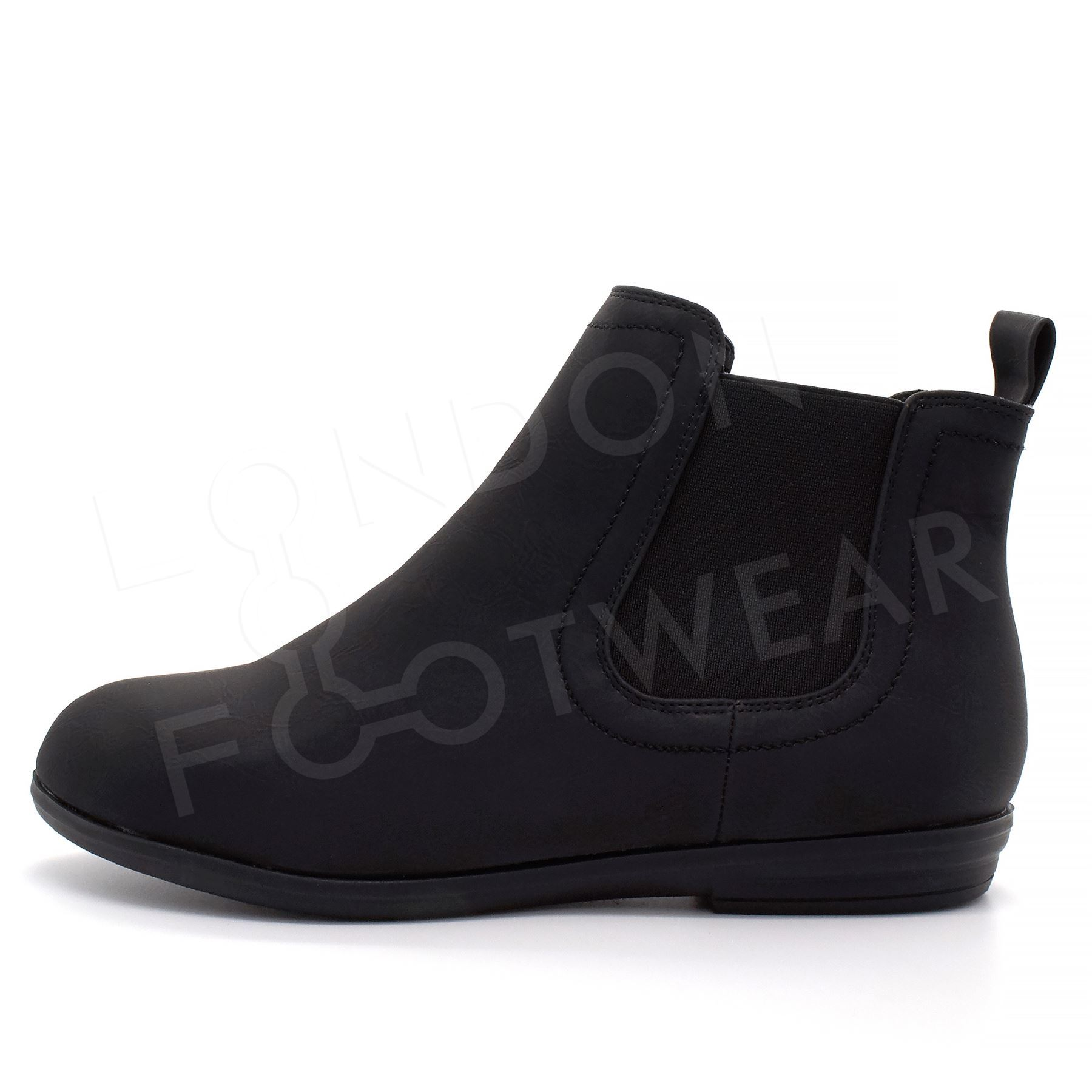 new womens flat low heel chelsea boots classic