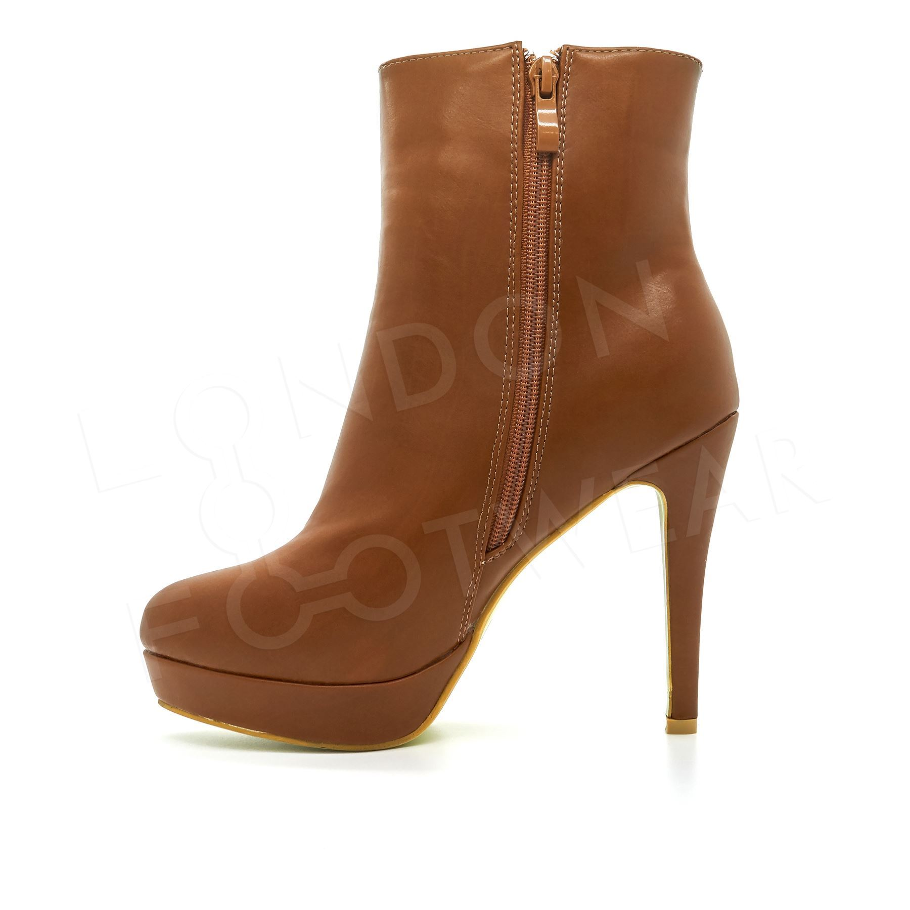Womens-Chelsea-Ankle-Boots-Ladies-High-Heel-Block-Platform-Shoes-Faux-Leather-UK