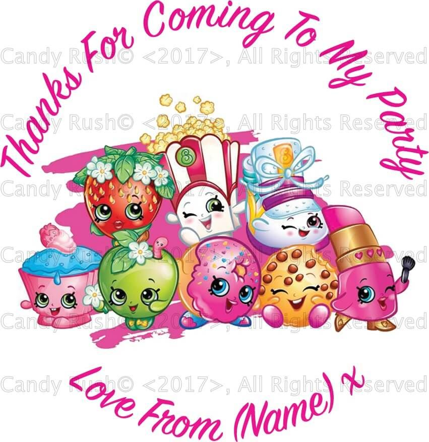 24 personalised birthday party stickers labels thank you for coming