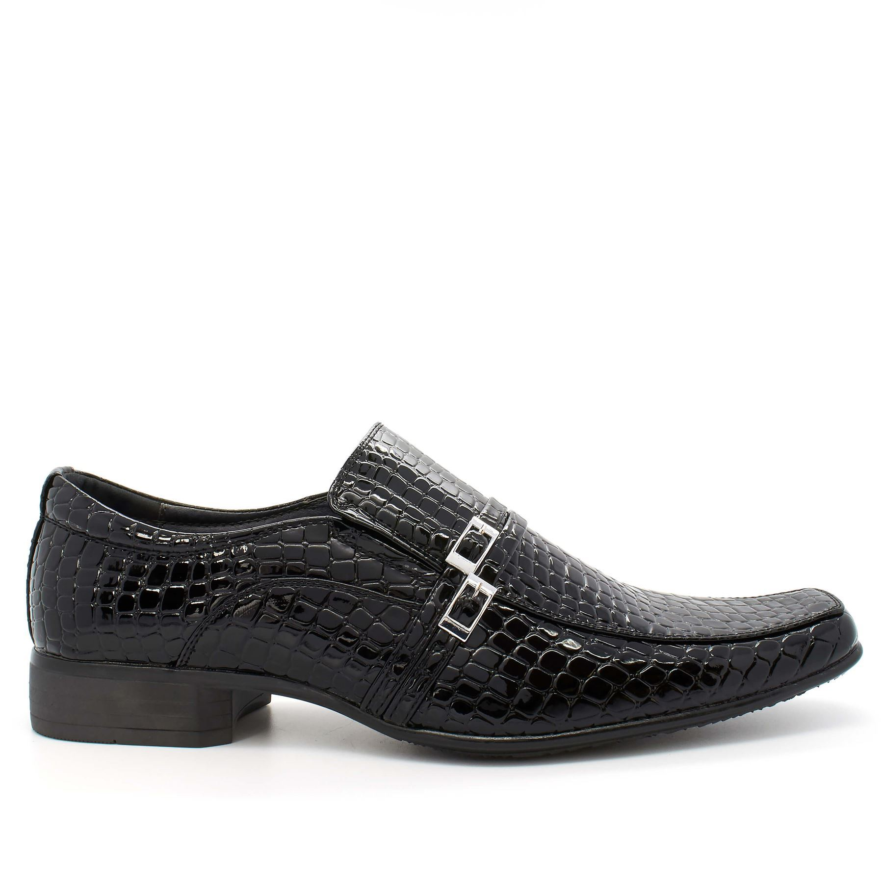 new mens slip on shoes dress formal pointed black faux