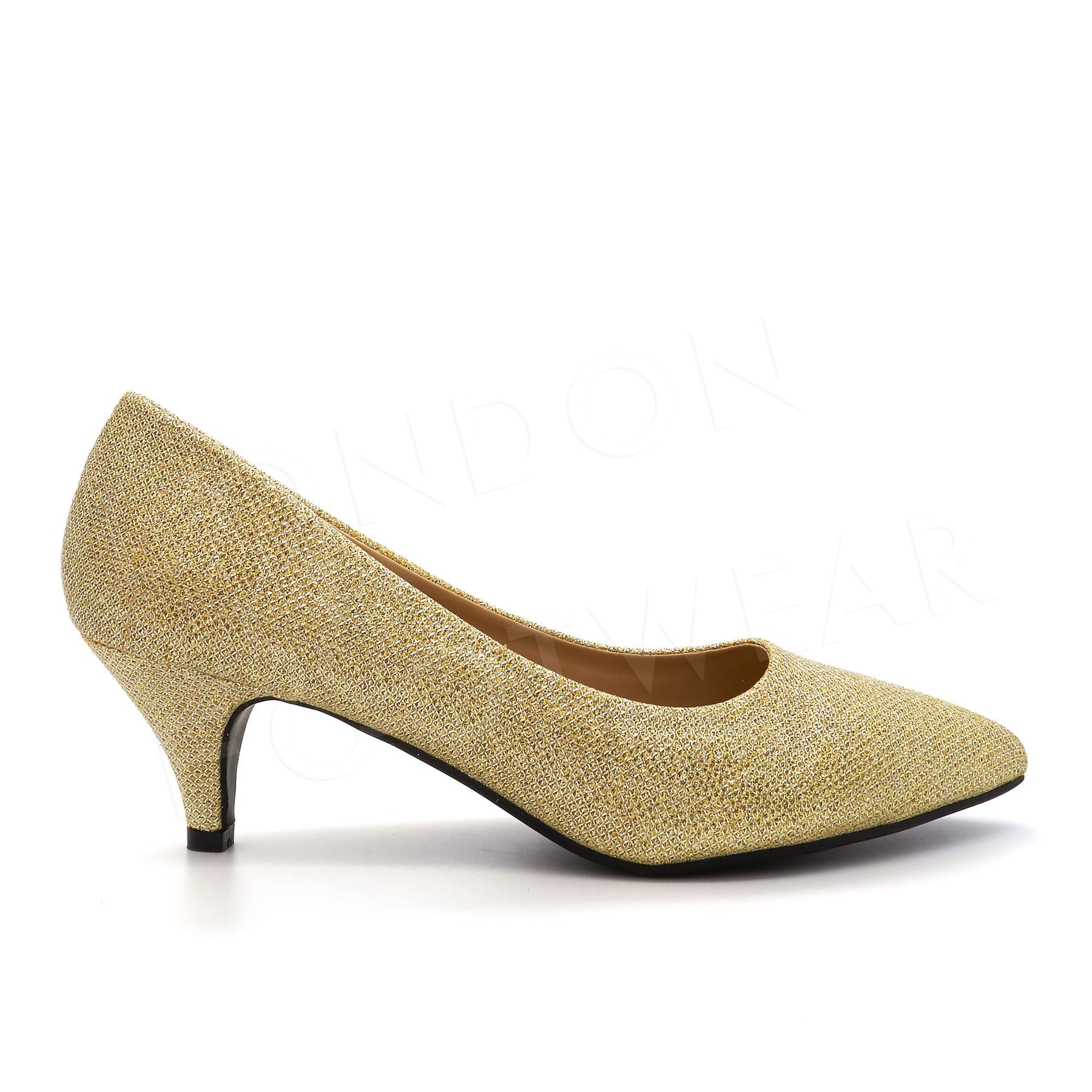 Round Toe Low Heel Wedding Shoes