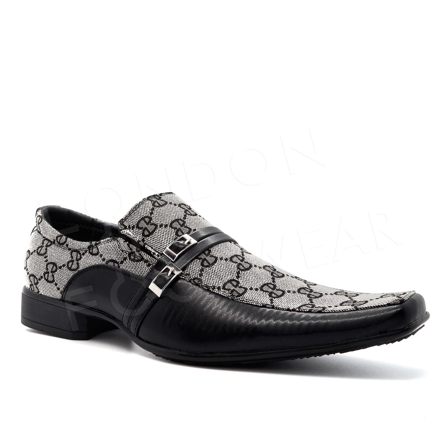 Black Shoes Mens New Italian Smart Party Wedding Dress