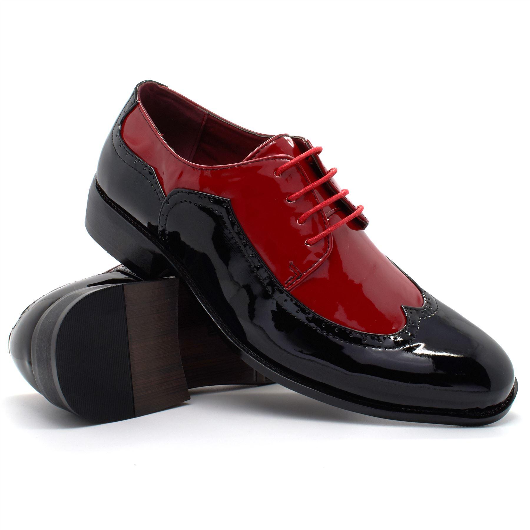 Mens Black White Gangster Shoes