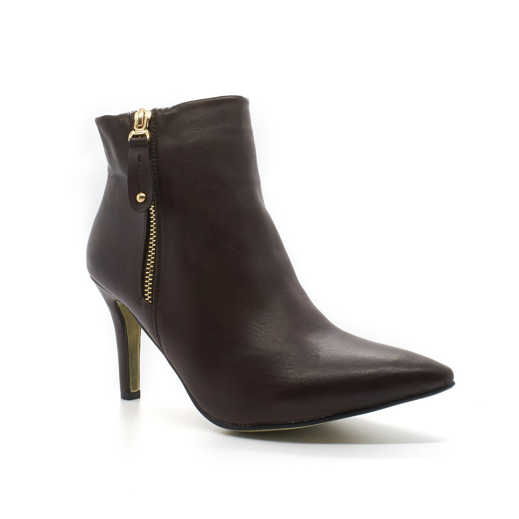 new womens zip heel pointed toe high stiletto ankle