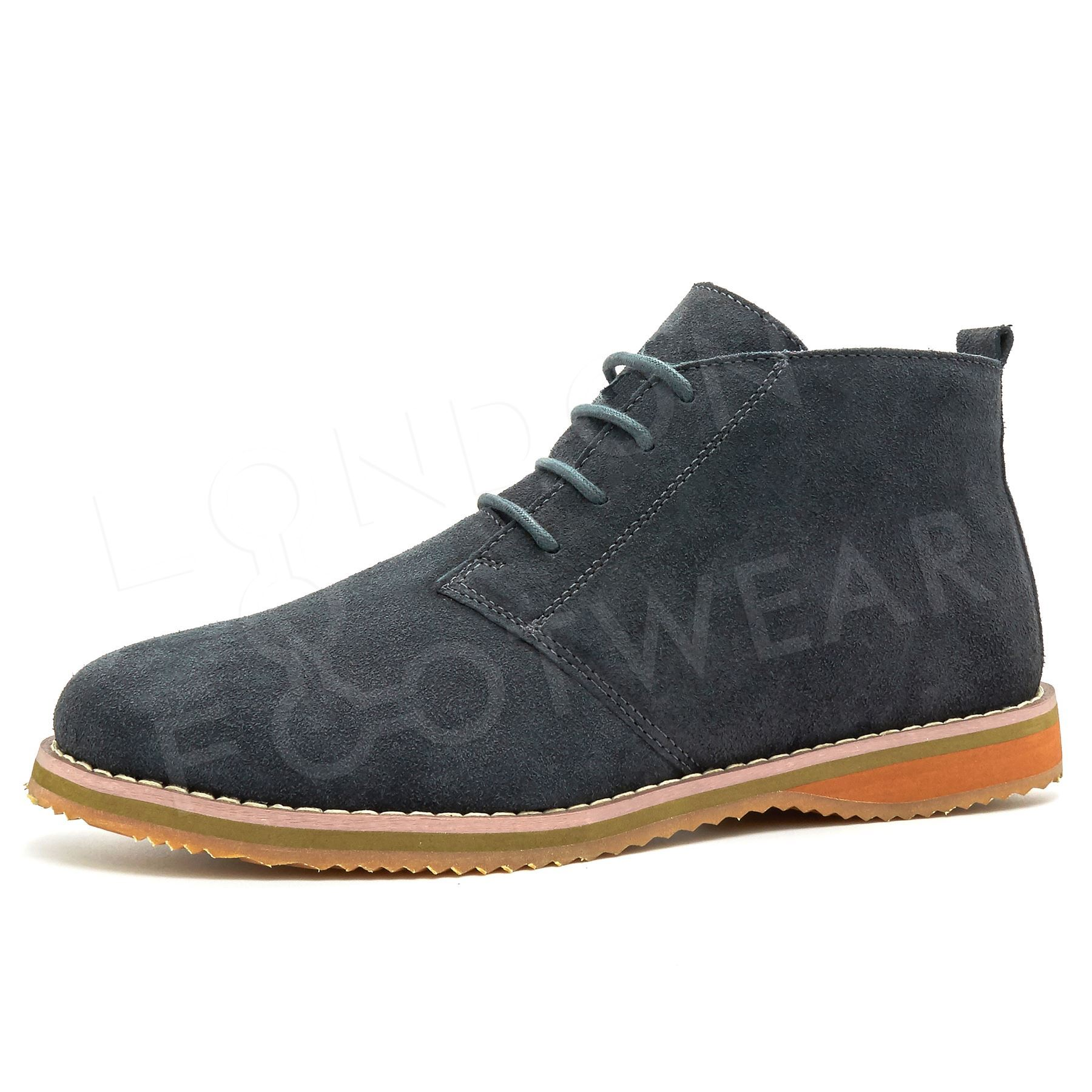 new mens suede leather desert chukka ankle boots casual lace up shoes size 6 11. Black Bedroom Furniture Sets. Home Design Ideas