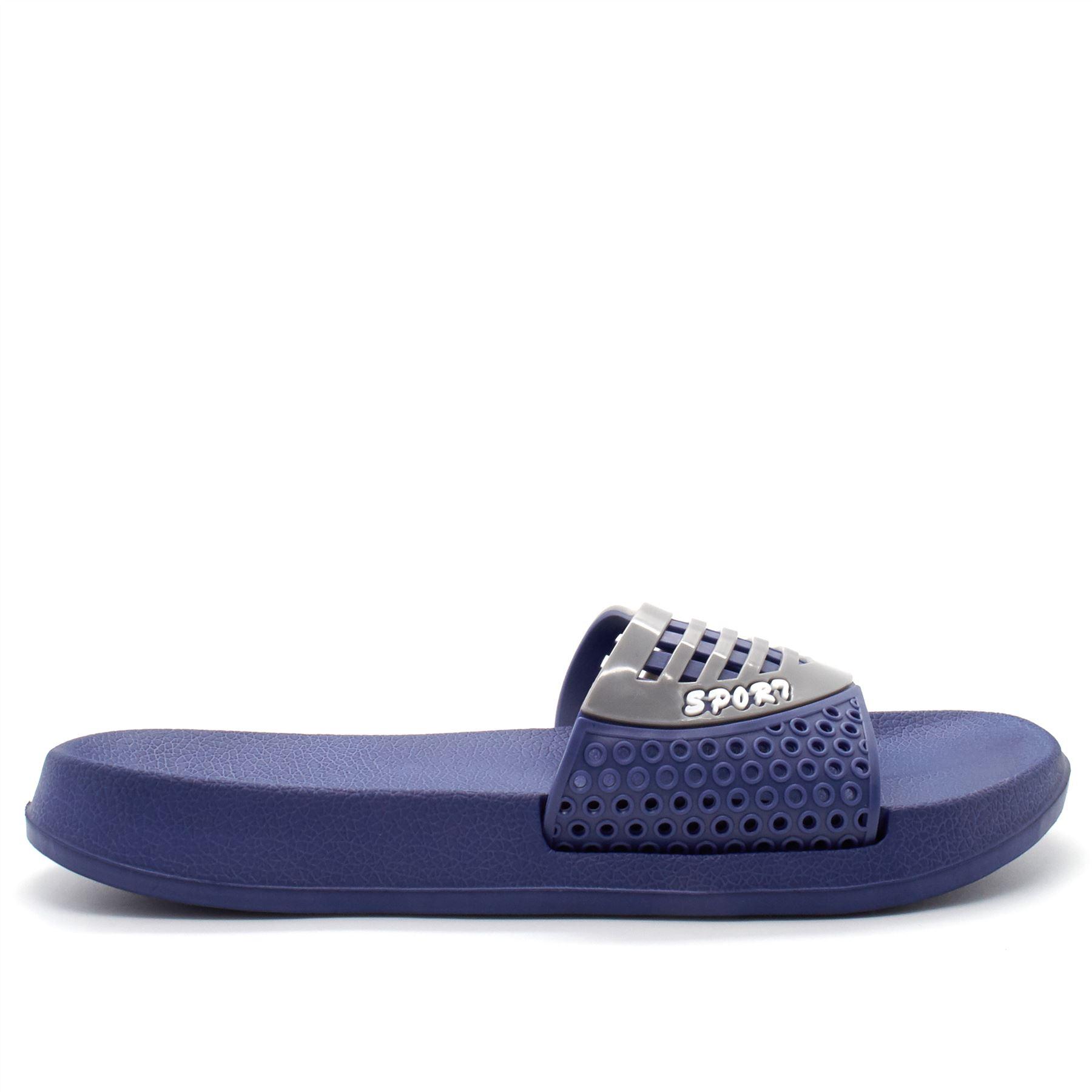 Mens Beach Pool Sliders Sandals Flip Flops Slip On Shower Fitness Swimming Shoes Ebay
