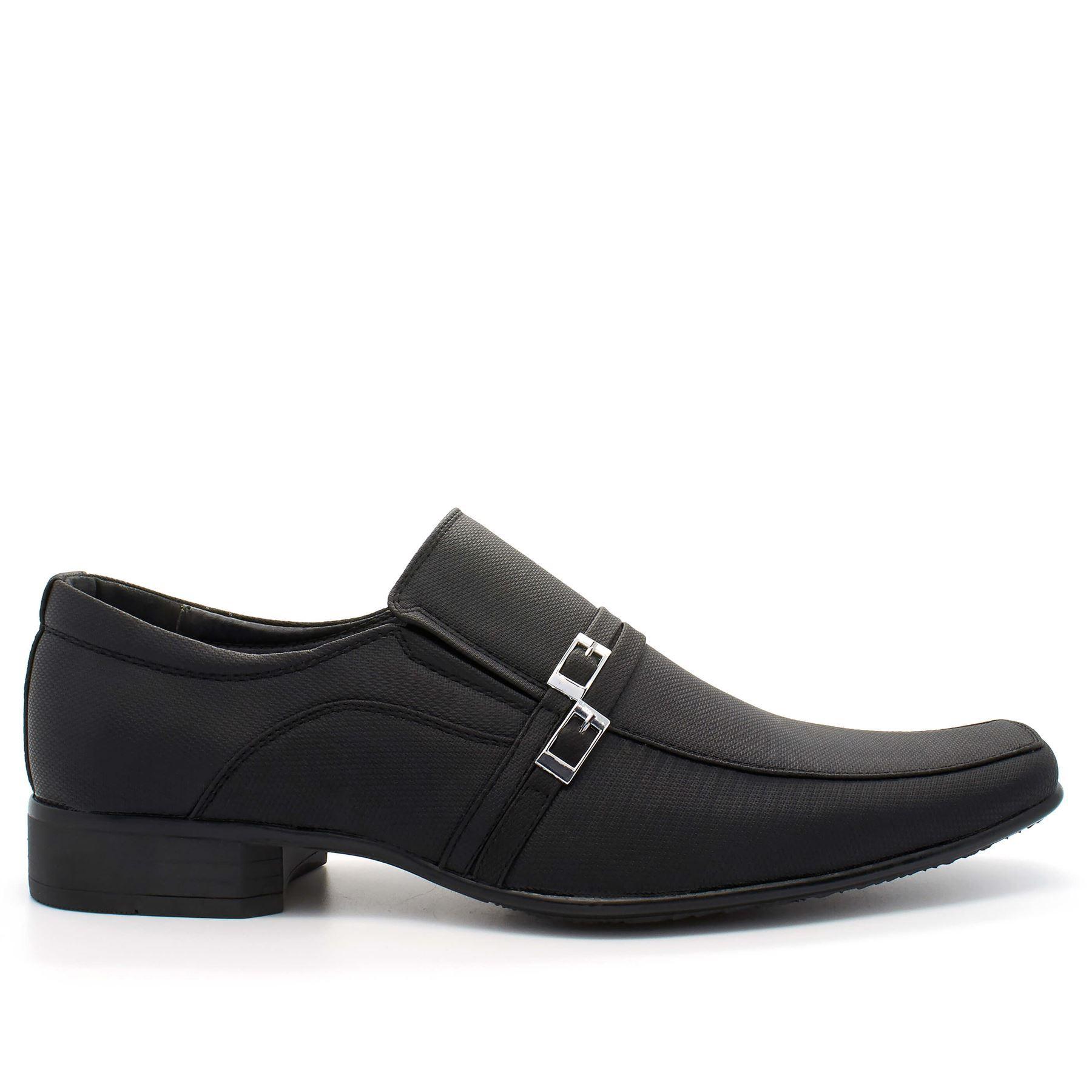 mens new wedding smart dress slip on black formal shoes uk