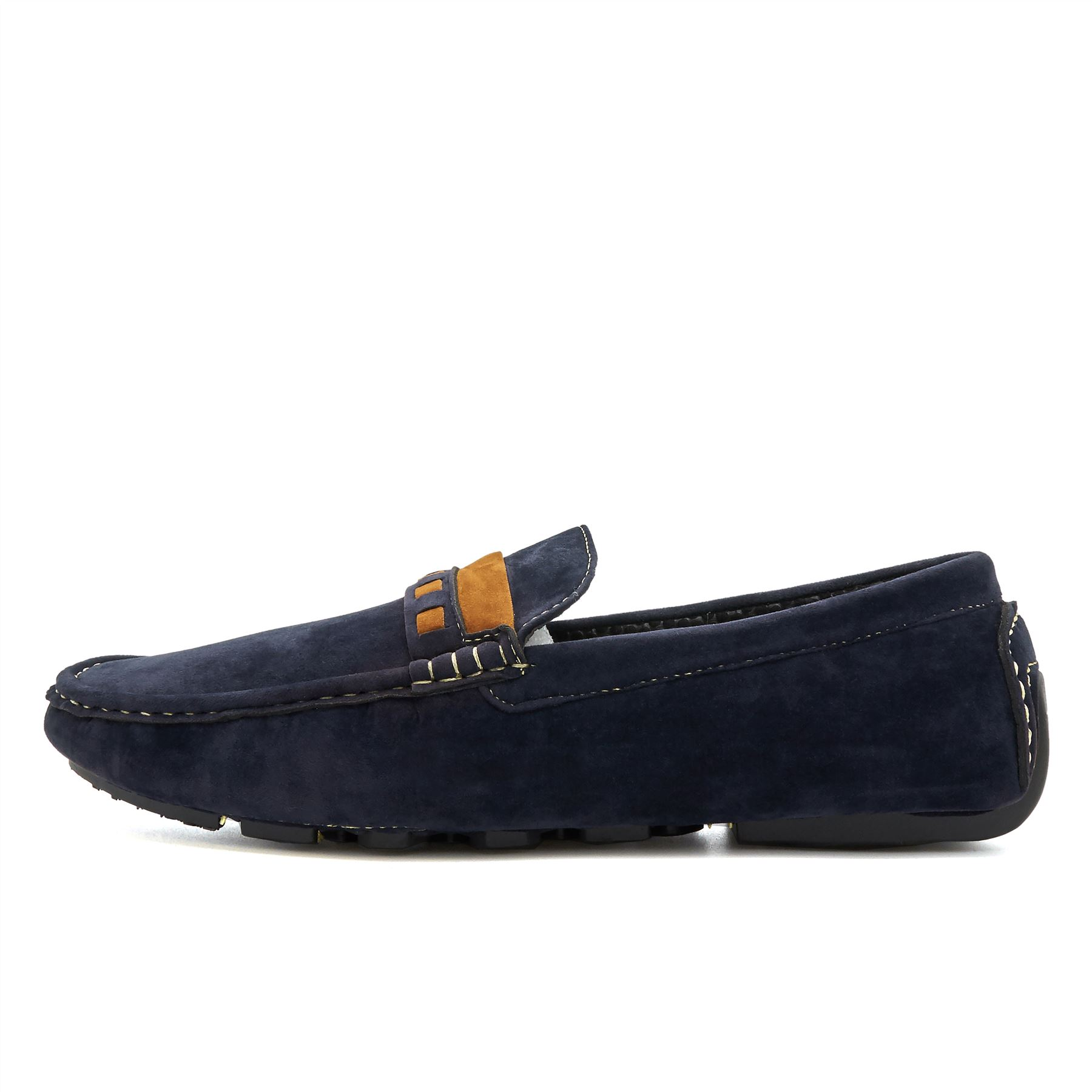 Mens Faux Suede Casual Loafers Moccasins Slip On Shoes