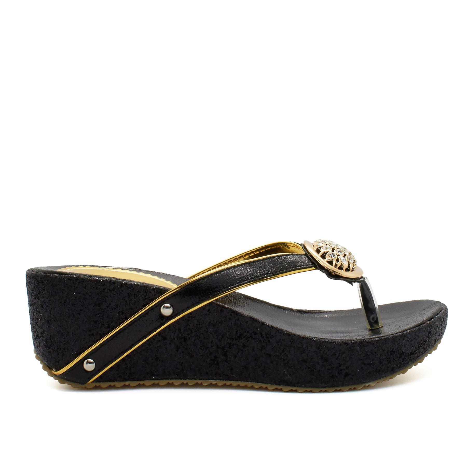 New Ladies Womens Wedges Platform Flip Flops Slippers