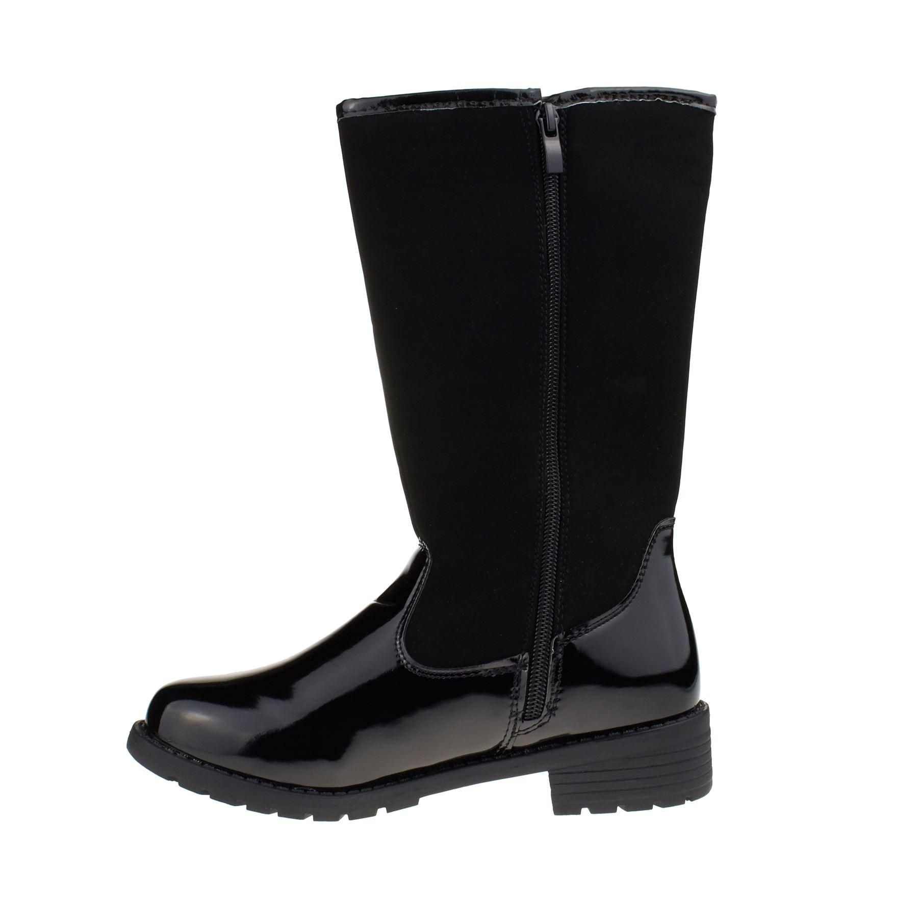 New Infants Girls Kids Warm Mid Calf Boots Casual Fur Snow Winter Zip Up Grip UK