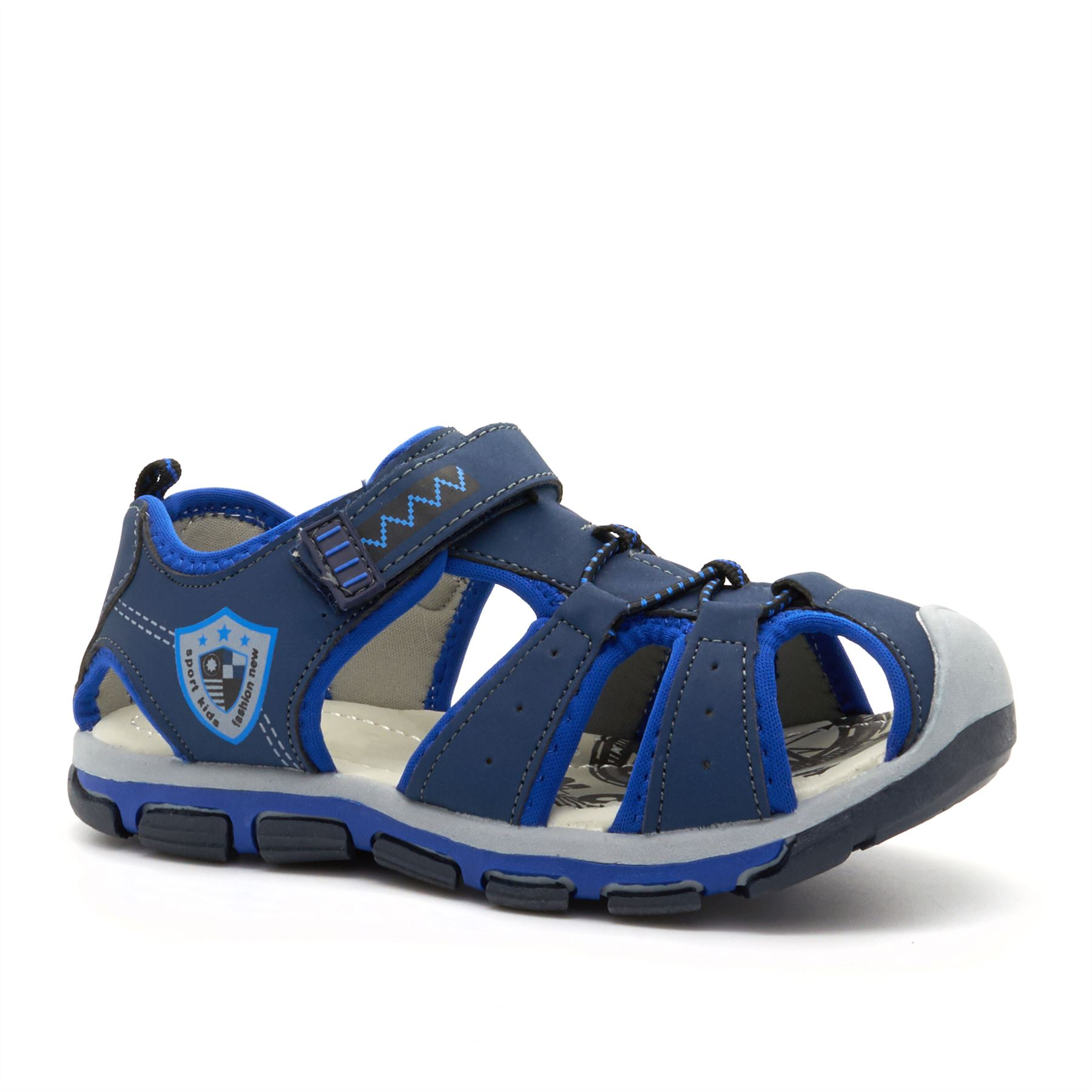 New Boys Kids Casual Sandals Summer Beach Sports Walking Touch Fasten Strap 7-12