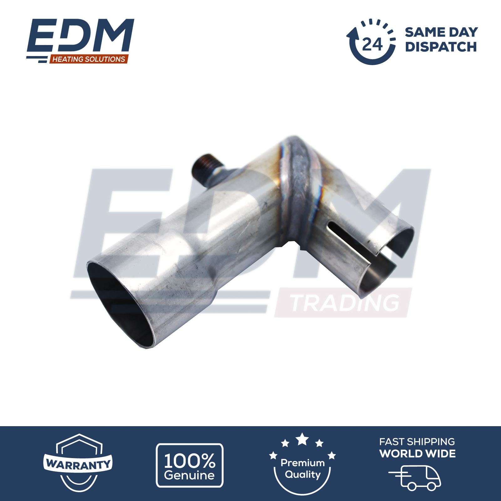 Eberspacher Adapter Exhaust L Bend 24mm to 30mm with water drain connection