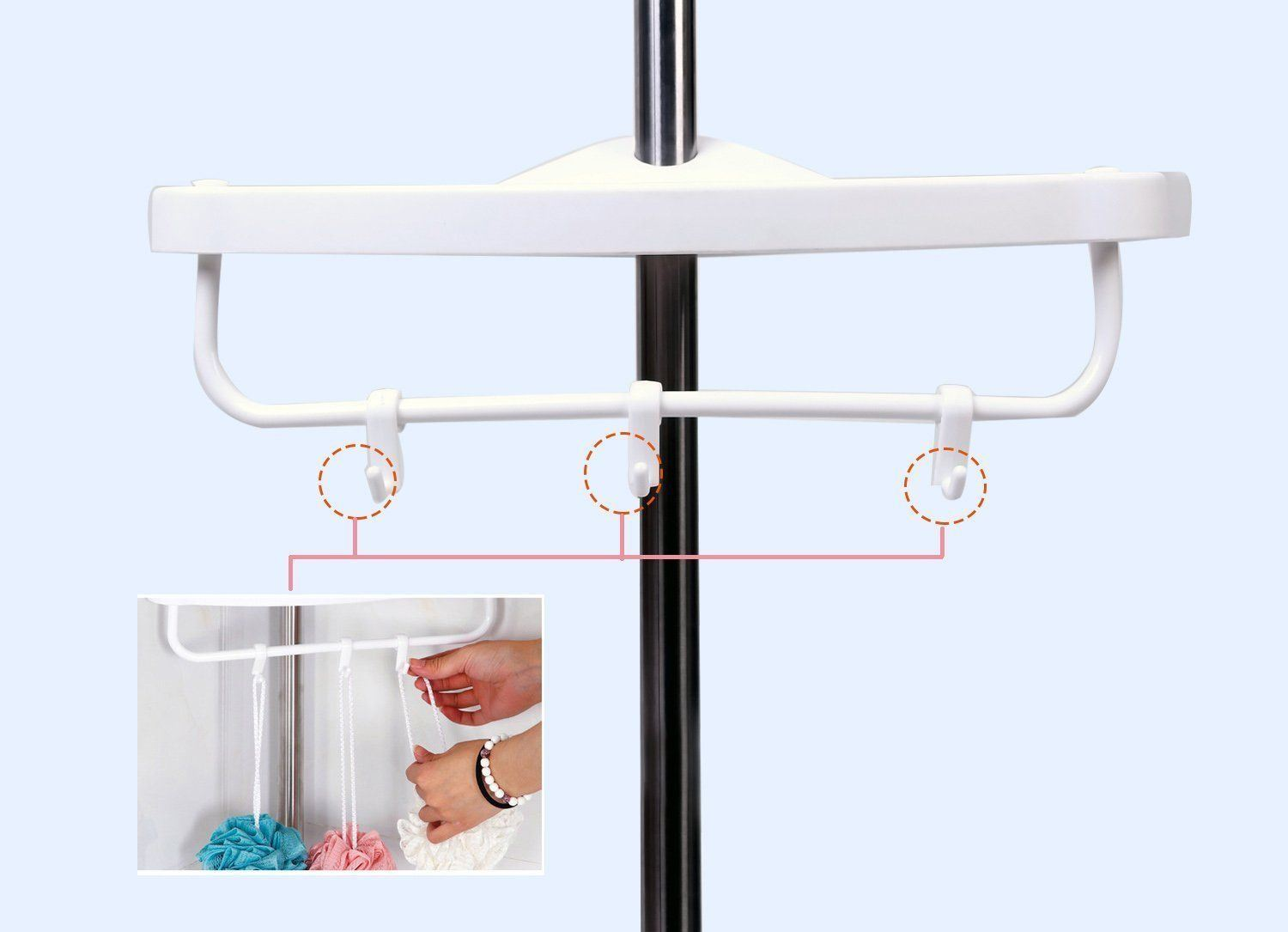Stainless Steel Corner Shower Caddy Uk