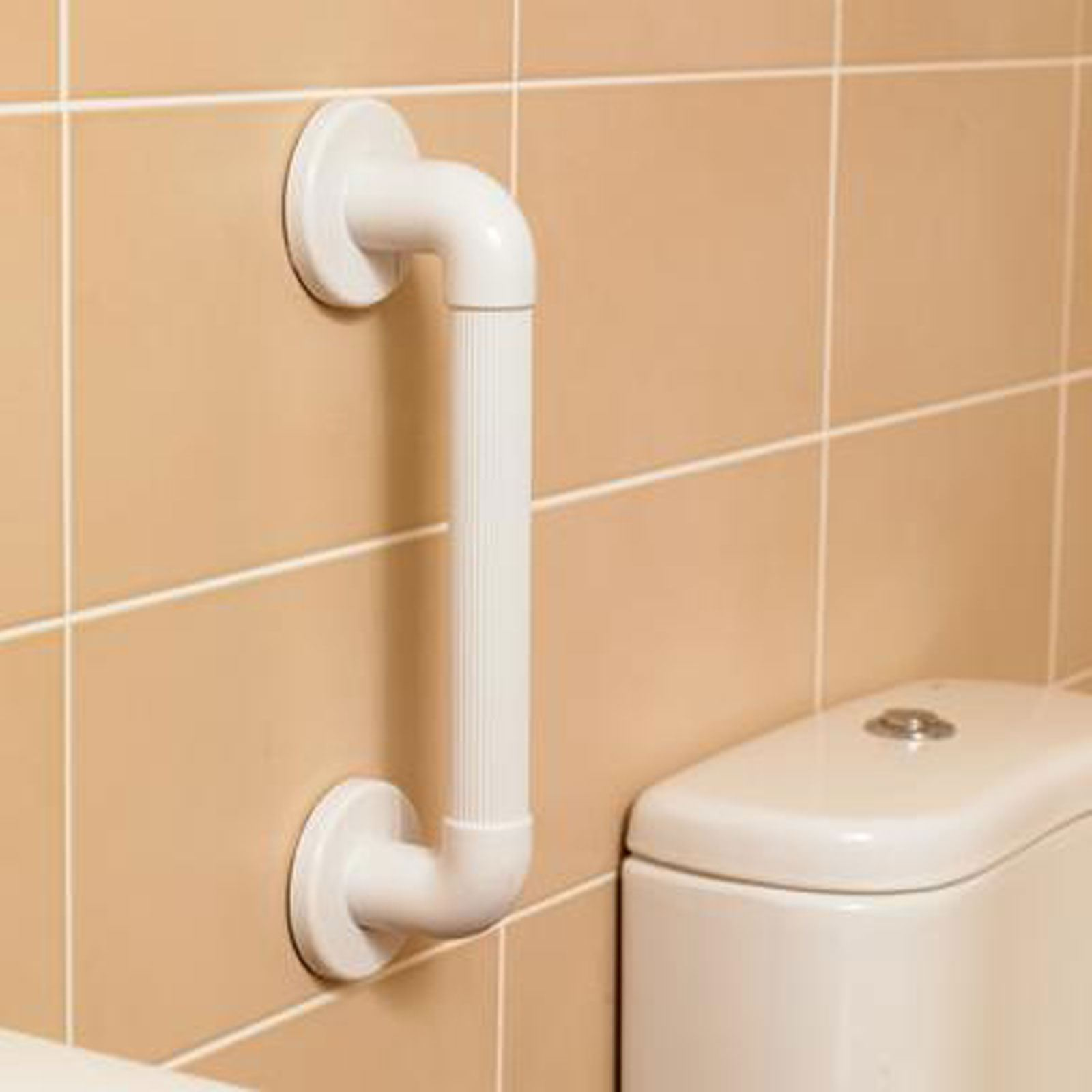 Plastic Fluted Ribbed Grab Bar. 3 Sizes. Bathroom Safety Disability ...