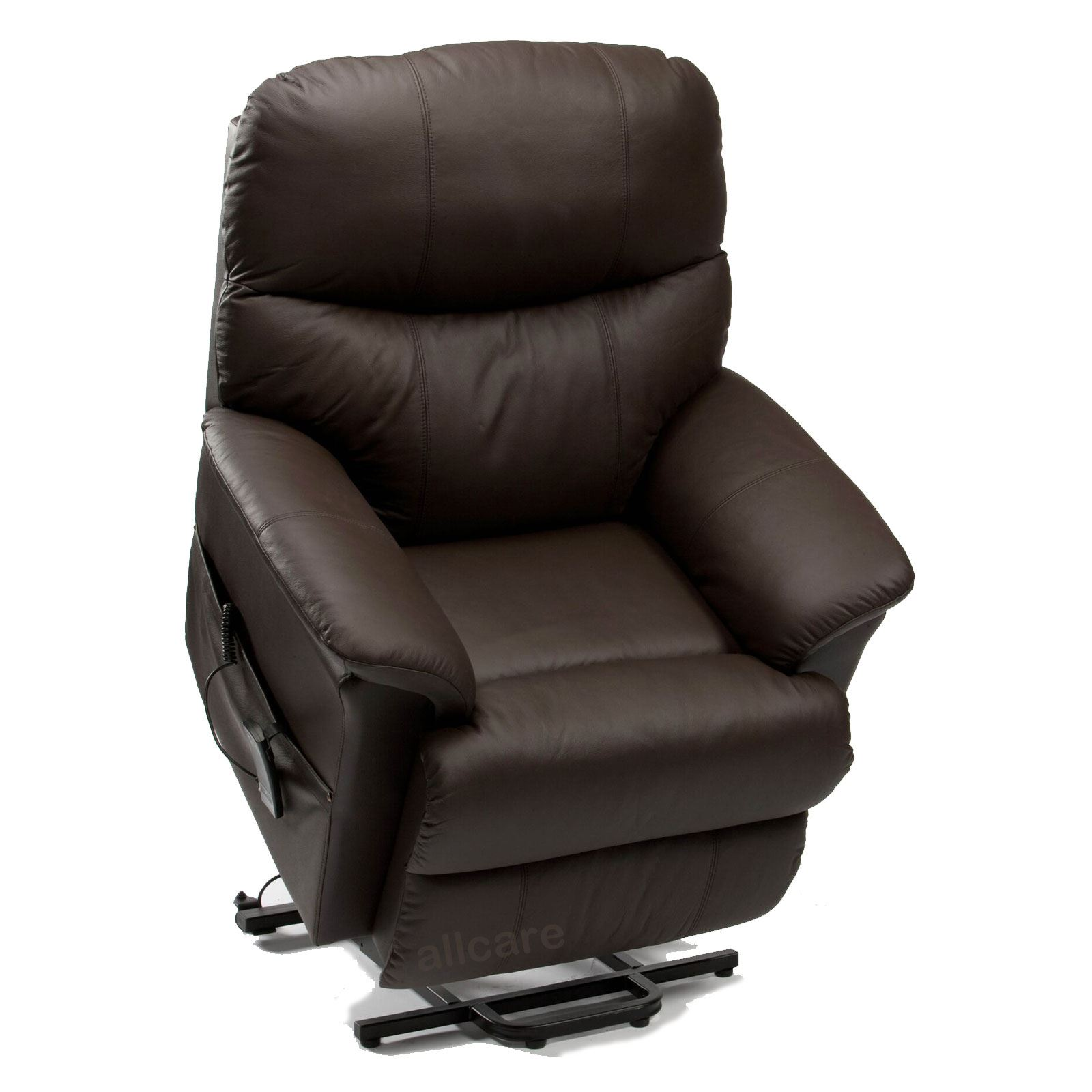 Restwell Lars Leather Electric Riser Recliner Chair Dual